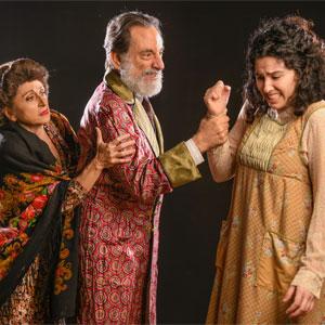Irene Adjan, David Kwiat and Hannah Benitez in INDECENT