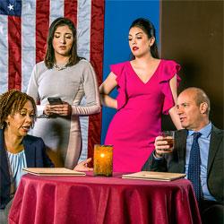 Karen Stephens, Diana Garle, Leah Sessa and Tom Wahl in KINGS