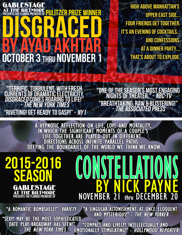 DOUBLE FLYER - DISGRACED AND CONSTELLATIONS - 25percent smalelr